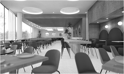 View Restaurant B&W